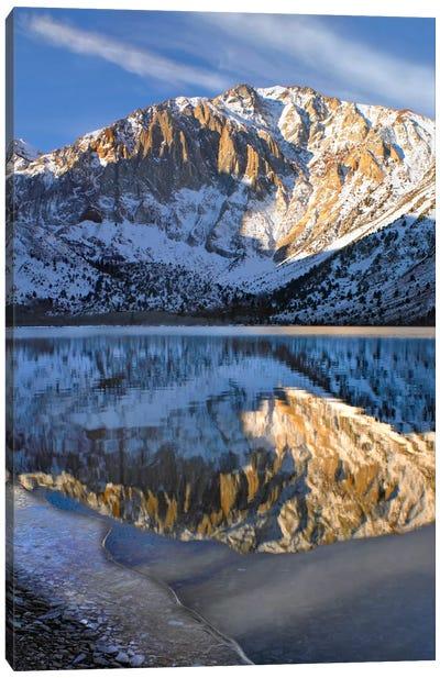 Laurel Mountain Reflected In Convict Lake, Eastern Sierra Nevada, California I Canvas Art Print