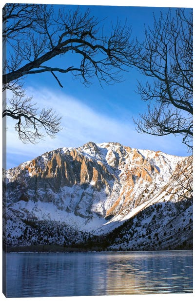 Laurel Mountain Reflected In Convict Lake, Eastern Sierra Nevada, California II Canvas Art Print