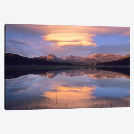 Lenticular Clouds Over Mount Dana, Mount Gibbs And Mammoth Peak At Tuolumne Meadows, Yosemite National Park, California Canvas Print #TFI524} by Tim Fitzharris Canvas Wall Art