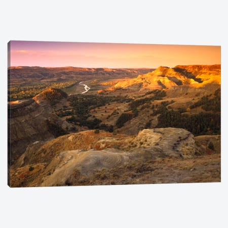 Little Missouri River, Theodore Roosevelt National Park, North Dakota Canvas Print #TFI532} by Tim Fitzharris Canvas Artwork