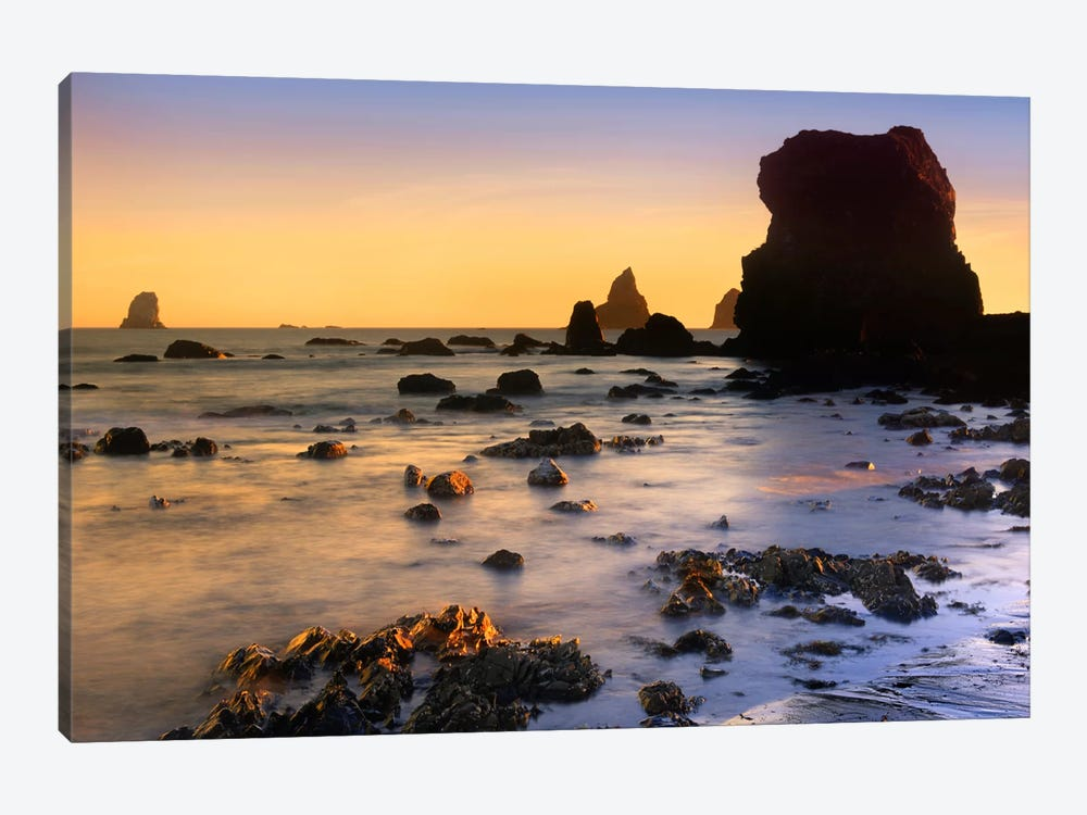 Lone Beach At Sunset, Oregon 1-piece Canvas Wall Art