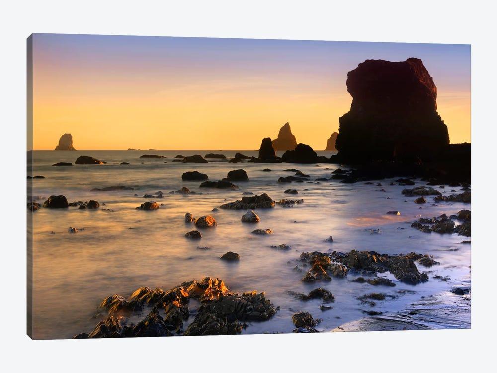 Lone Beach At Sunset, Oregon by Tim Fitzharris 1-piece Canvas Wall Art