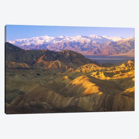 Looking At Panamint Range Over The Furnace Creek Playa From Zabriskie Point, Death Valley National Park, California Canvas Print #TFI545} by Tim Fitzharris Canvas Artwork