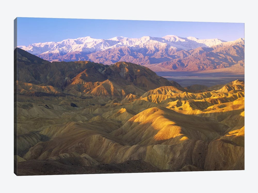 Looking At Panamint Range Over The Furnace Creek Playa From Zabriskie Point, Death Valley National Park, California by Tim Fitzharris 1-piece Canvas Print
