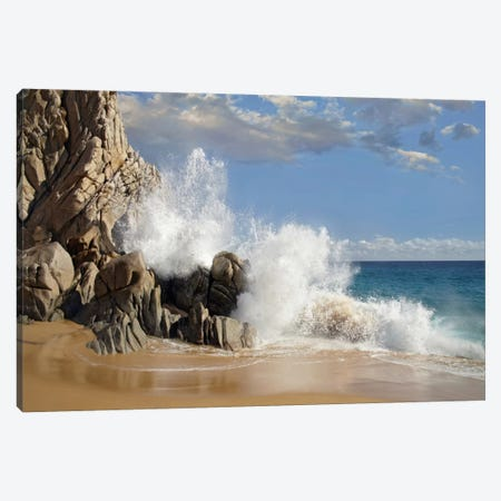 Lover's Beach With Crashing Waves, Cabo San Lucas, Mexico Canvas Print #TFI547} by Tim Fitzharris Canvas Art