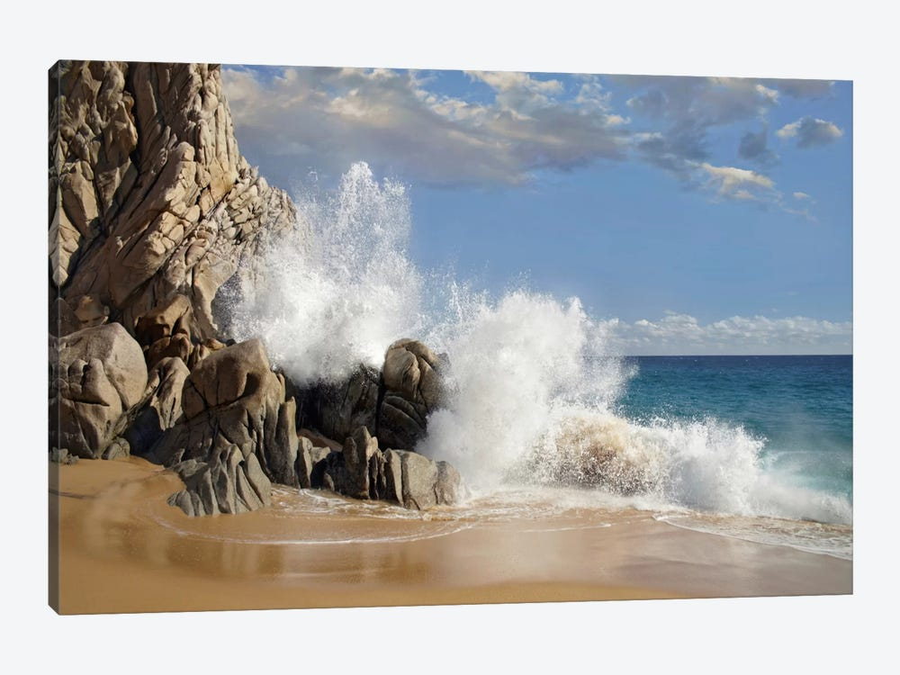 Lover's Beach With Crashing Waves, Cabo San Lucas, Mexico by Tim Fitzharris 1-piece Canvas Art Print