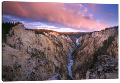 Lower Yellowstone Falls, Yellowstone National Park, Wyoming I Canvas Art Print