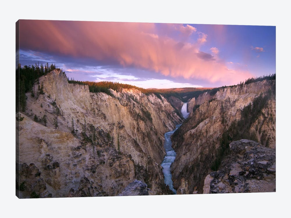 Lower Yellowstone Falls, Yellowstone National Park, Wyoming I by Tim Fitzharris 1-piece Canvas Print