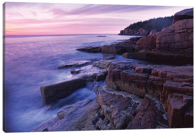 Atlantic Coast Near Thunder Hole, Acadia National Park, Maine II Canvas Art Print