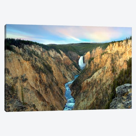 Lower Yellowstone Falls, Yellowstone National Park, Wyoming III Canvas Print #TFI551} by Tim Fitzharris Canvas Art