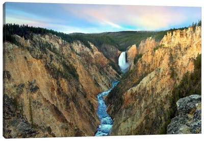 Lower Yellowstone Falls, Yellowstone National Park, Wyoming III Canvas Art Print