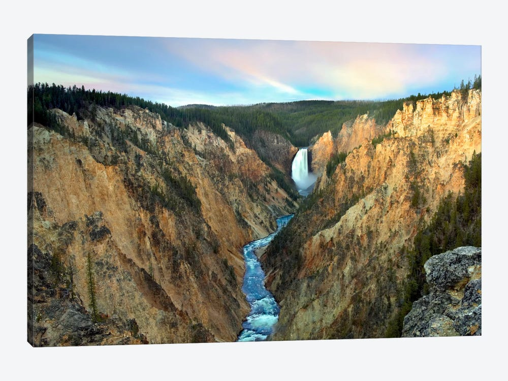 Lower Yellowstone Falls, Yellowstone National Park, Wyoming III by Tim Fitzharris 1-piece Canvas Artwork