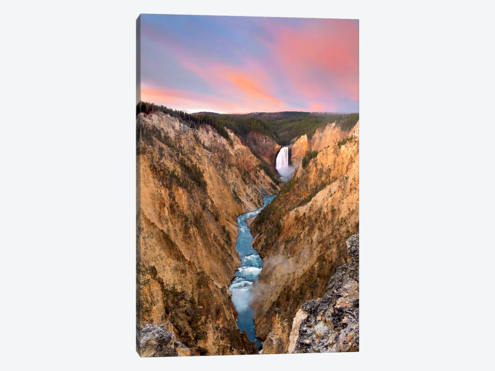 Lower Yellowstone Falls, Yellowstone National Park, Wyoming IV by Tim Fitzharris 1-piece Canvas Art Print