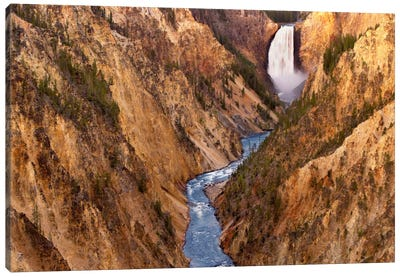 Lower Yellowstone Falls, Yellowstone National Park, Wyoming V Canvas Art Print