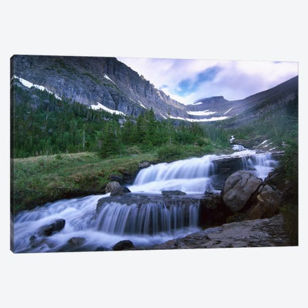Lunch Creek Cascades, Glacier National Park, Montana Canvas Print #TFI554} by Tim Fitzharris Art Print