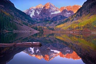 Maroon Bells Reflected In Maroon Bells Lake Tim Fitzharris Icanvas