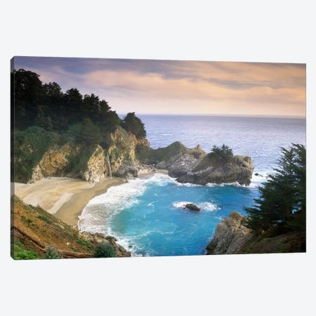 Mcway Cove And Mcway Falls, Julia Pfieffer-Burns State Park, California Canvas Print #TFI586} by Tim Fitzharris Canvas Art