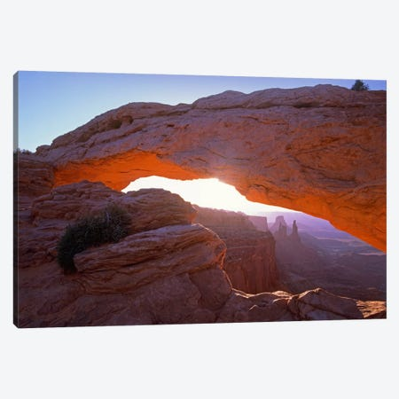 Mesa Arch At Sunset From Mesa Arch Trail, Canyonlands National Park, Utah I Canvas Print #TFI591} by Tim Fitzharris Canvas Artwork