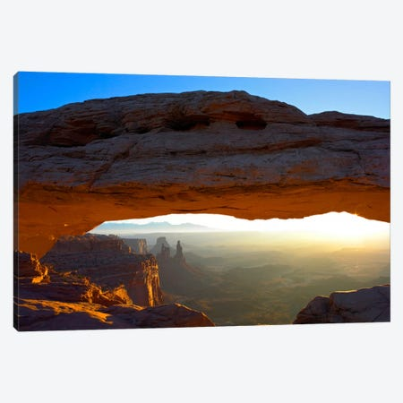 Mesa Arch At Sunset From Mesa Arch Trail, Canyonlands National Park, Utah II Canvas Print #TFI592} by Tim Fitzharris Canvas Art