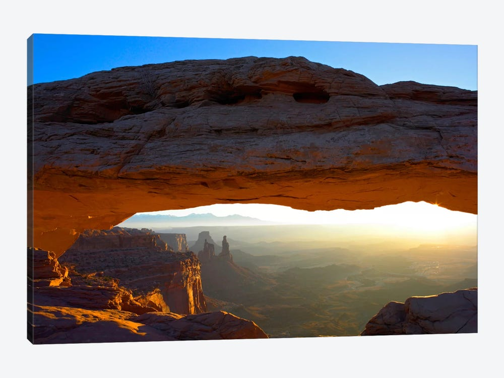 Mesa Arch At Sunset From Mesa Arch Trail, Canyonlands National Park, Utah II by Tim Fitzharris 1-piece Canvas Print