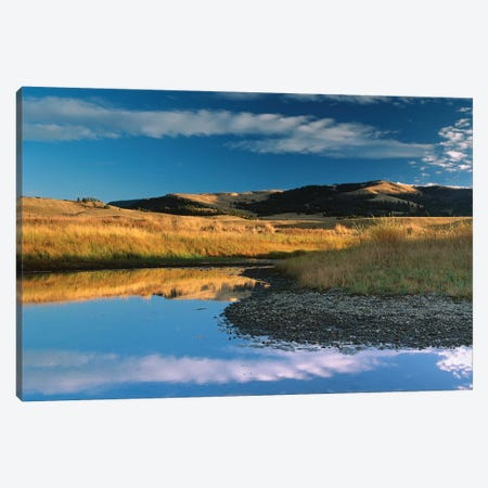 Absaroka Range And Slough Creek, Yellowstone National Park, Wyoming Canvas Print #TFI5} by Tim Fitzharris Art Print