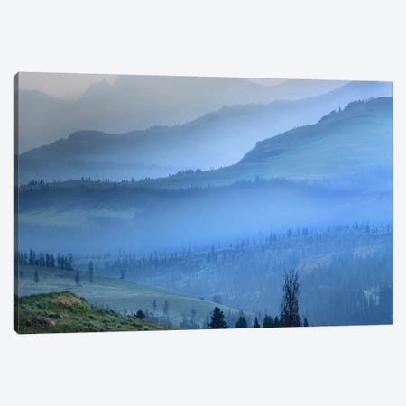 Mist Over Absaroka Range, Yellowstone National Park, Wyoming Canvas Print #TFI600} by Tim Fitzharris Canvas Artwork