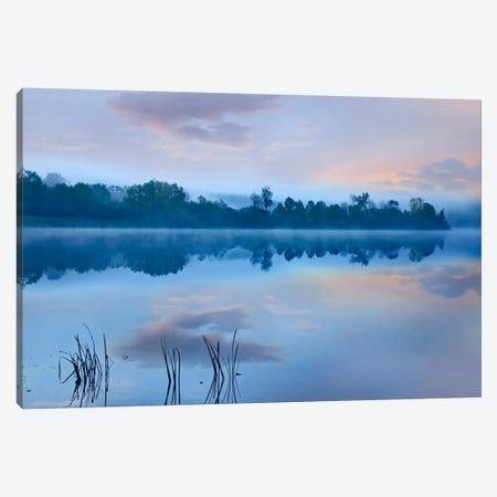 Mist Over Lackawanna Lake, Lackawanna State Park, Pennsylvania Canvas Print #TFI601} by Tim Fitzharris Canvas Art