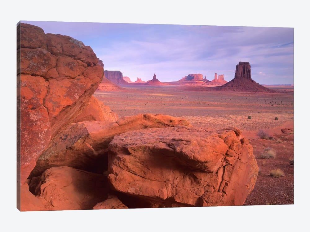Mittens, North Window, Monument Valley, Arizona by Tim Fitzharris 1-piece Canvas Print