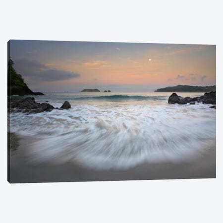 Moon Over Playa Espadilla, Costa Rica Canvas Print #TFI613} by Tim Fitzharris Canvas Art Print