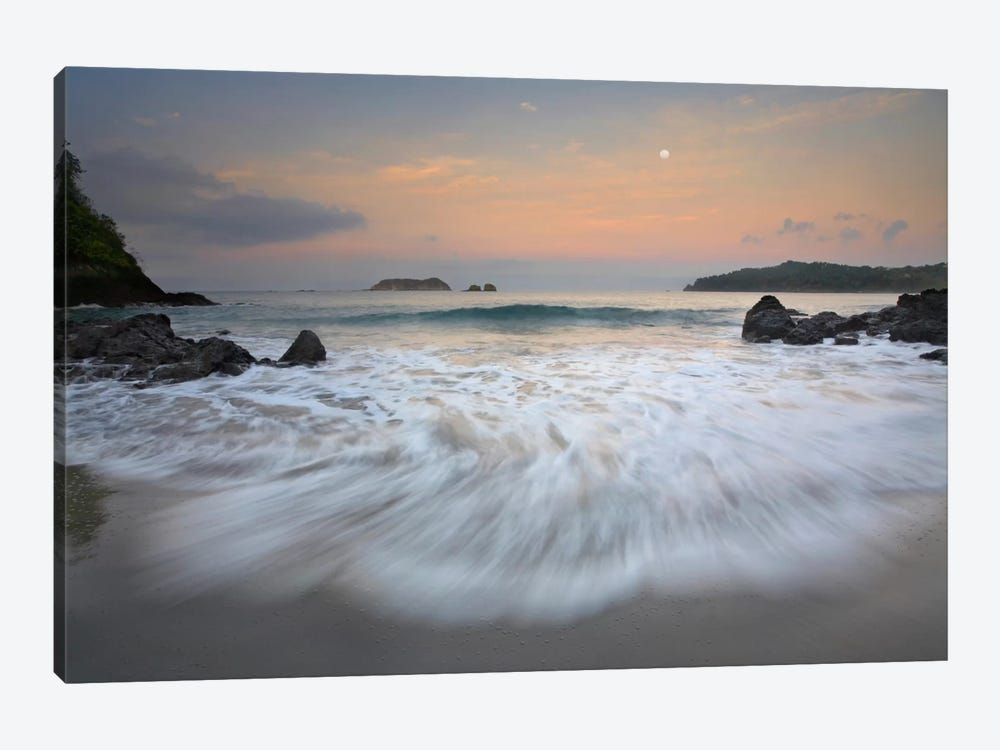 Moon Over Playa Espadilla, Costa Rica by Tim Fitzharris 1-piece Canvas Wall Art