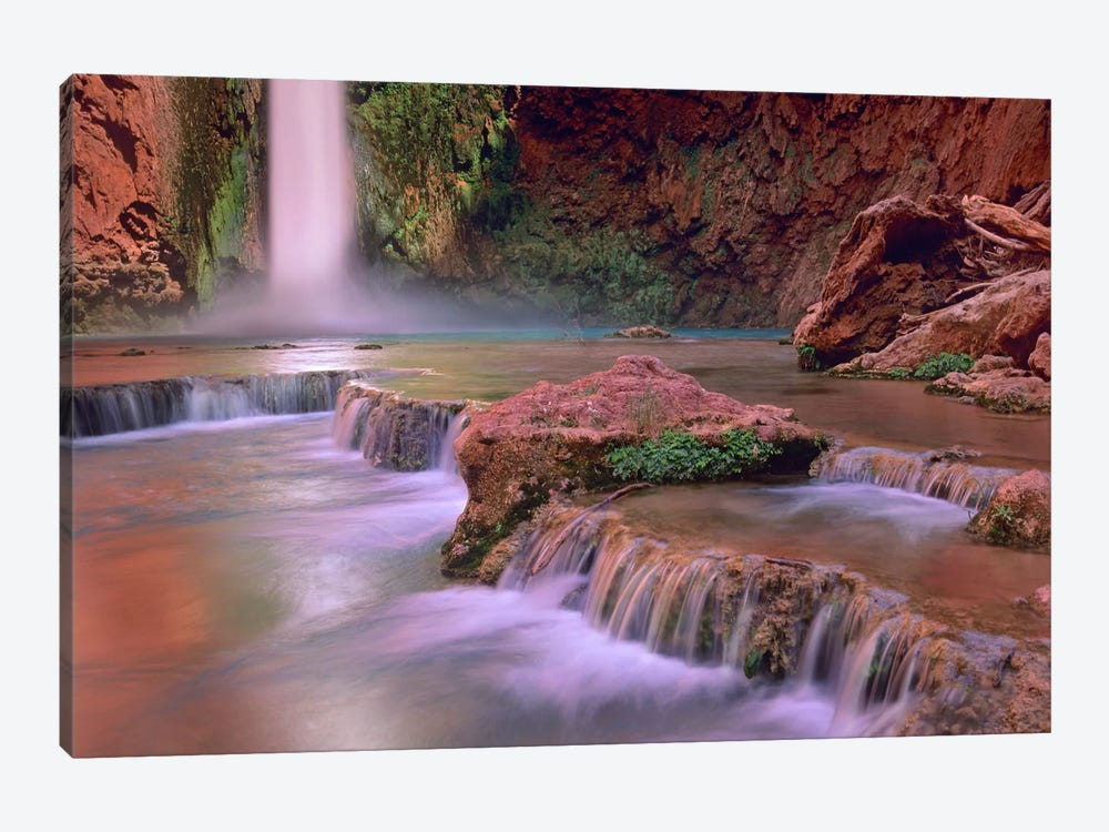 Mooney Falls Cascading Into Havasu Creek, Grand Canyon National Park, Arizona by Tim Fitzharris 1-piece Art Print