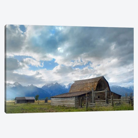Mormon Row Barn, Grand Teton National Park, Wyoming I Canvas Print #TFI619} by Tim Fitzharris Canvas Art Print