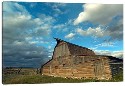 Mormon Row Barn, Grand Teton National Park, Wyoming II Canvas Art Print