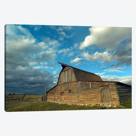 Mormon Row Barn, Grand Teton National Park, Wyoming II Canvas Print #TFI620} by Tim Fitzharris Canvas Artwork