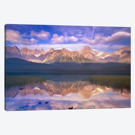 Mount Chephren Reflected In Waterfowl Lake, Banff National Park, Alberta, Canada Canvas Print #TFI631} by Tim Fitzharris Canvas Art Print