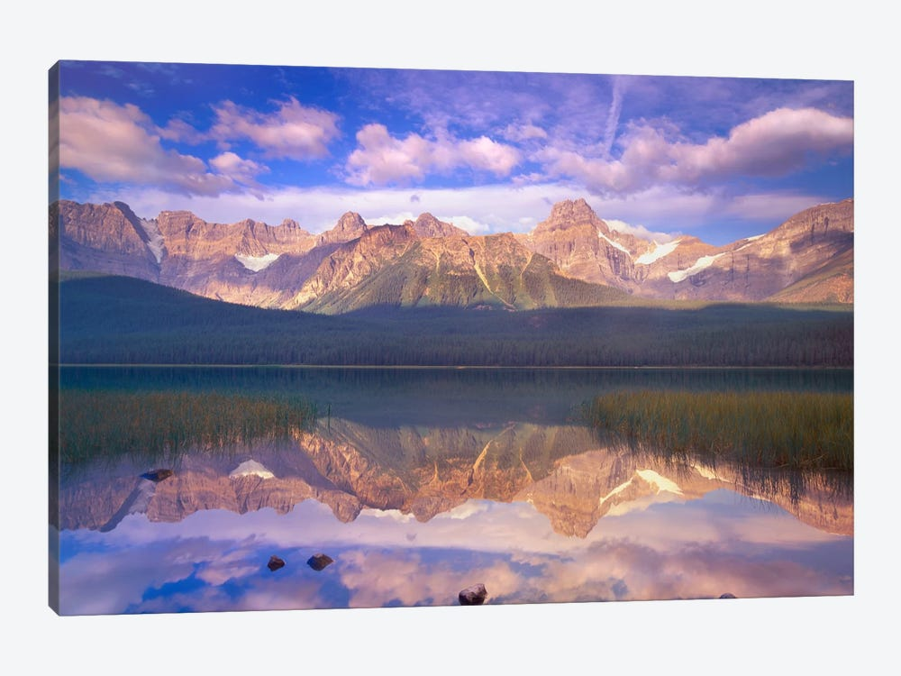 Mount Chephren Reflected In Waterfowl Lake, Banff National Park, Alberta, Canada 1-piece Canvas Wall Art