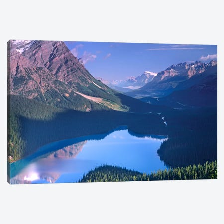 Mount Patterson At Peyto Lake, Banff National Park, Alberta, Canada Canvas Print #TFI635} by Tim Fitzharris Canvas Wall Art