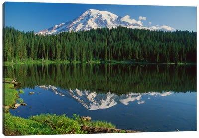 Mount Rainier And Reflection Lake, Mount Rainier National Park, Washington I Canvas Art Print