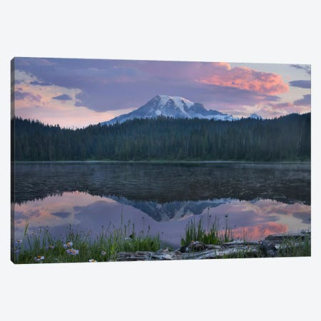 Mount Rainier And Reflection Lake, Mount Rainier National Park, Washington II Canvas Print #TFI638} by Tim Fitzharris Canvas Art Print