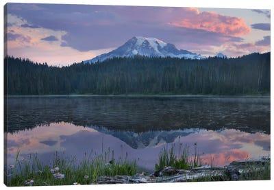Mount Rainier And Reflection Lake, Mount Rainier National Park, Washington II Canvas Art Print