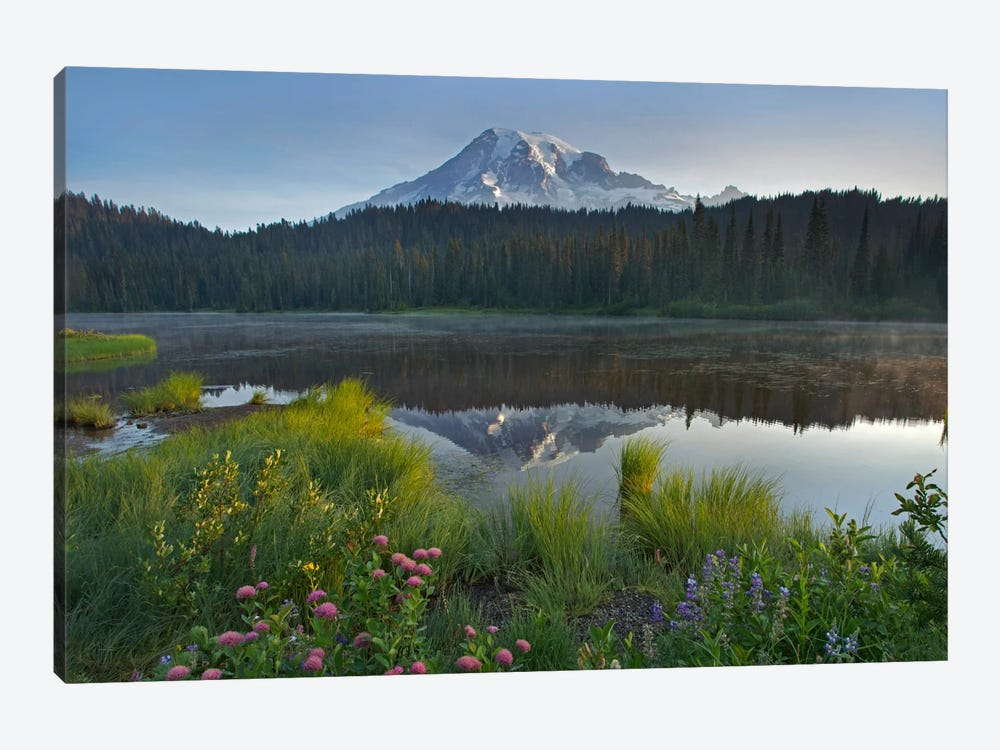 Mount Rainier And Reflection Lake, Mount Rainier National Park, Washington III by Tim Fitzharris 1-piece Canvas Artwork