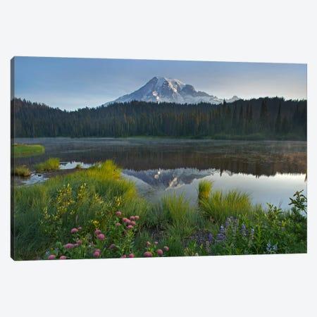 Mount Rainier And Reflection Lake, Mount Rainier National Park, Washington III Canvas Print #TFI639} by Tim Fitzharris Canvas Art Print