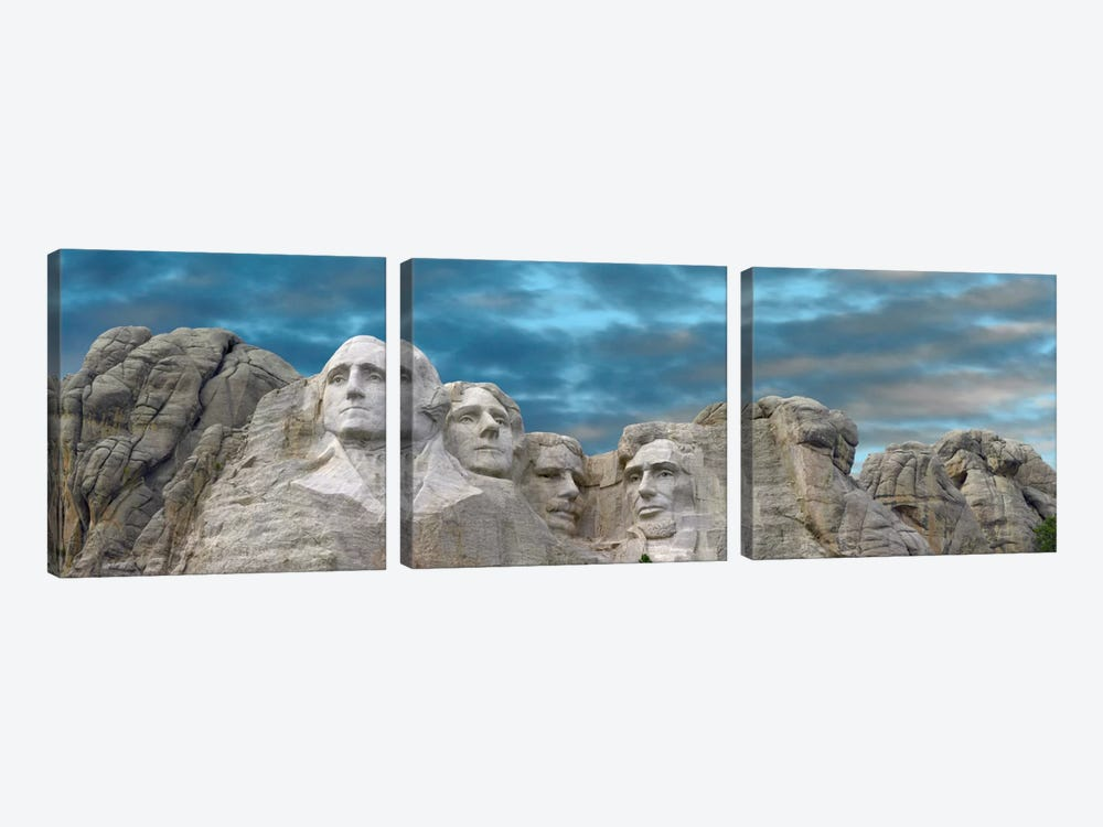 Mount Rushmore National Monument Near Keystone, South Dakota II by Tim Fitzharris 3-piece Canvas Art Print