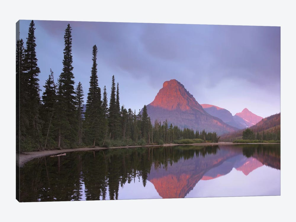 Mount Sinopah Reflected In Two Medicine Lake, Glacier National Park, Montana by Tim Fitzharris 1-piece Canvas Art