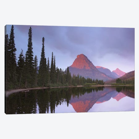 Mount Sinopah Reflected In Two Medicine Lake, Glacier National Park, Montana Canvas Print #TFI646} by Tim Fitzharris Art Print