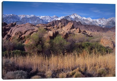 Mount Whitney And The Sierra Nevada From Alabama Hills, California Canvas Art Print