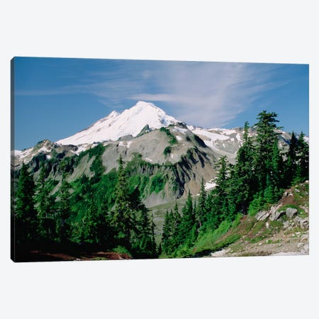 Mt Baker, Cascade Mountains, Washington Canvas Print #TFI656} by Tim Fitzharris Canvas Wall Art