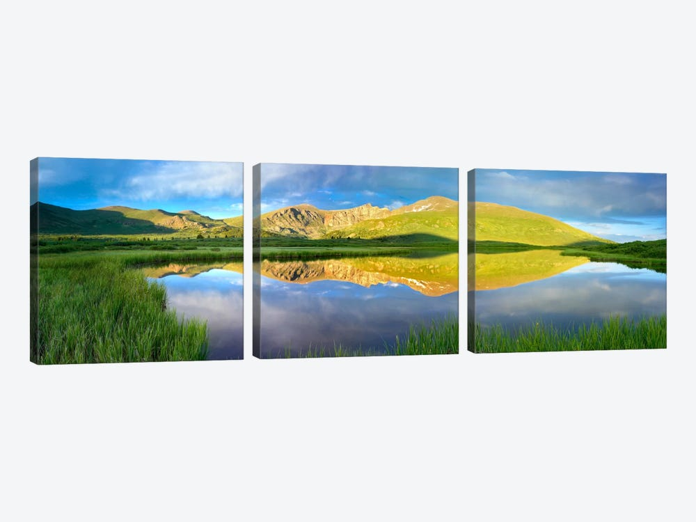 Mt Bierstadt As Seen From Guanella Pass, Colorado 3-piece Canvas Artwork