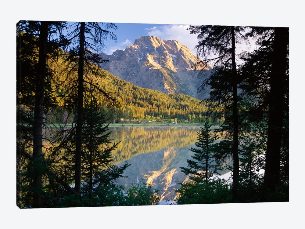 Mt Moran And String Lake, Grand Teton National Park, Wyoming by Tim Fitzharris 1-piece Art Print