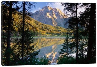 Mt Moran And String Lake, Grand Teton National Park, Wyoming Canvas Art Print